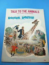 Vintage sheet music - Talk To The Animals - Doctor Dolittle