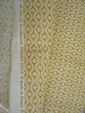 """58"""" W Gorgeous Pierre Deux Yellow Gold Chloe French Country Toile Fleur Fabric"""