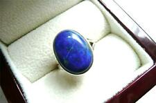925 STERLING SILVER BLUE LAPIS LAZULI OVAL CABOCHON RING SZ N1/2 - 7.25