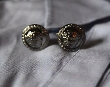 Cuff links, Men's Medusa Stainless steel cuff links, 1 Pair Gunmetal color