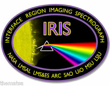 "4"" IRIS PRISM  NASA SPACE HELMET CAR BUMPER EMBLEM DECAL STICKER MADE IN USA"