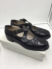 GIORGIO ARMANI Black NAPPA Loafer Flat Shoes Shoe MARY JANE Made in Italy 38 8 B