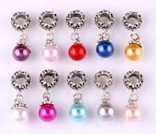 10pcs mix LAMPWORK CZ big hole spacer beads fit Charm European Bracelet AR599