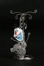 Disney Frozen Olaf Silver Diamante Keyring / Bag Charm