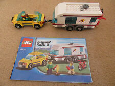 Lego Car and caravan 4435 good used condition inc Instructions minifigures