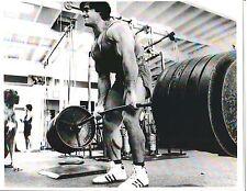 FRANCO COLUMBU /Dog Deadlift 600+lbs Gold's Gym Bodybuilding Muscle B+W Photo#2