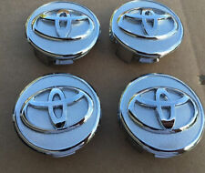NEW SET 4   PRIUS COROLLA YARIS CENTER WHEEL HUB CAPS CHROME LOGO EMBLEM