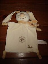 TIAMO CREAM / BEIGE COMFORT BLANKET /BLANKIE SOFT TOY RATTLE IN HEAD
