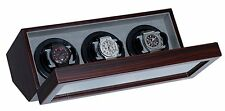 Belocia Triple Ebony Wood Watch Winder - VAN3
