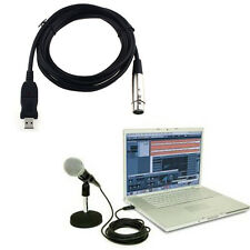 XLR Female to USB Male 3m 9FT Black Cable кабель Cord Adapter Microphone Link TR