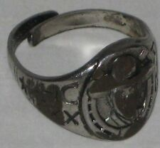 1940's Hopalong Cassidy Premium Ring Face & Sides Worn Down - Metal