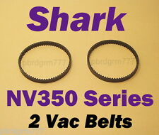 2 Belts for Shark Navigator Lift-Away Motorized Floor Brush NV350, NV351, NV352