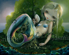 Jasmine Becket-Griffith art print mermaid fairy deserted island SIGNED Stranded