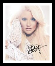 CHRISTINA AGUILERA AUTOGRAPHED SIGNED & FRAMED PP POSTER PHOTO