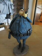 Fat Policeman Figurine Statue with Baton and Walkie Talkie - Thicker Cops