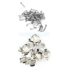 60pc Brooch Back Safety Catch Bar Pins 25mm 45mm for DIY Brooches Badge Craft