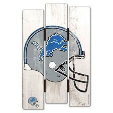 "DETROIT LIONS FENCE WOOD SIGN 11""X17'' BRAND NEW FREE SHIPPING WINCRAFT"