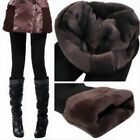Women Thick Warm Fleece Lined Fur Winter Sexy Tight Pencil Black Leggings Pants
