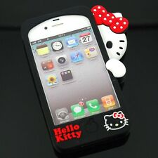 New Hide & Seek 3D Hello Kitty Silicone Rubber Gel Case Cover For iPhone 4 4G 4S