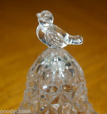 GERMAN HOFBAUER LEAD CRYSTAL BELL WITH CLACKER AND FLARED BASE