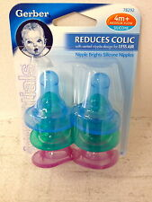 New Vintage Gerber Bottle Nipples Colored Nipples Reborn Baby Doll Bottles Also