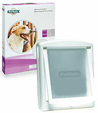NUOVO Staywell Petsafe 760 LARGE BIANCA DOG porta con attraverso il lembo