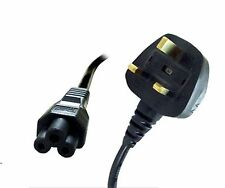 UK 3 Pin Clover Leaf Mickey Mouse Laptop Mains Power Cable Lead Cord C5 *CE*