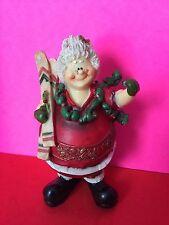 Skiing Mrs. Santa Claus Christmas Figurine Collectible Gift