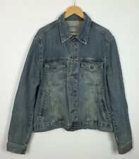 VINTAGE 90'S BLUE RIDGE JEANS DENIM JACKET COAT FESTIVAL URBAN GRUNGE RETRO UK L