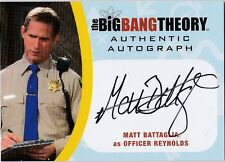 THE BIG BANG THEORY SEASONS  6 & 7 MBA2 MATT BATTAGLIA OFFICR REYNOLDS AUTOGRAPH