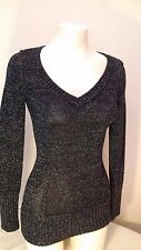 Guess - Sexy Long Sparkly Black Womens Sweater