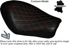 DIAMOND STITCH ORANGE CUSTOM FOR HARLEY SPORTSTER LOW IRON 883 SOLO SEAT COVER