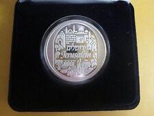.999 Fine Silver Bullion Round  City of Peace Jerusalem Holy Land Mint w/case