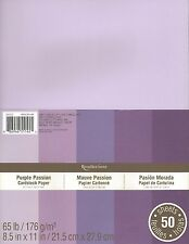 "New Recollections 8.5x11"" Cardstock Paper Purple Passion 50 Sheets"