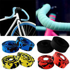 1Pair Road Bike Bicycle Cycling Handlebar Cork Bar Grip Wrap Tapes + 2 Bar Plugs