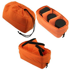 Flexible DSLR SLR Camera Lens Insert Bag Partition Padded Pouch for Travel LI