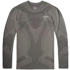 NIKE NIKELAB GYAKUSOU DRI-FIT SWEAT-MAP MEN'S RUNNING SHIRT SIZE XL GREY