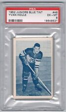 1952-53 Juniors Blue Tint Hockey Card Three-Rivers Reds Yvan Houle Graded PSA 6