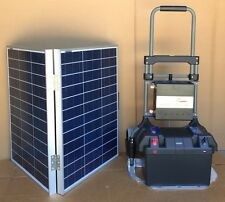 1200W Portable Solar Electric Generator Kit with 100W folding panels