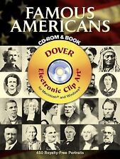 Famous Americans: 450 Portraits from Colonial Times to 1900 by Dover