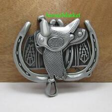 1 x mens ladies belt buckle quality metal alloy jeans horse shoe cowboy saddle