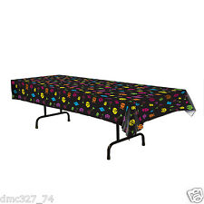 "1980s 80s Party Decoration TABLE COVER Atari Video Game Arcade Icon 54"" x 108"""