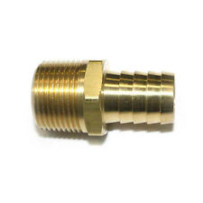 """Brass Hose Barb Fitting, Connector, 3/4"""" Barb X 3/4"""" NPT Male End - FM99"""
