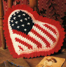PATRIOTIC I Love America Pillow/Decor/Crochet Pattern INSTRUCTIONS ONLY