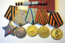 BK.001.Soviet Russian Order and Medals (Order of Glory 3class,Battle Merit)USSR.