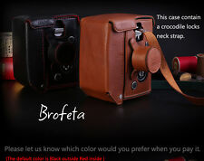 Brofeta Italy Rolleiflex 2.8F 3.5F leather case/bag, Rolleiflex case Handmade.