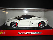 Hot Wheels Ferrari LaFerrari 2013 White 1/18