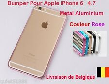 BUMPER METAL ALUMINIUM HOUSSE For iPhone 6  Rose + Protection Film cadeau