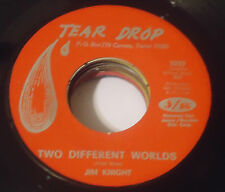 JIM KNIGHT The Wrong Side Of Town/Too Different Worlds 45 tear drop teen rock