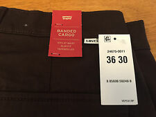 New Levi's Banded Cargo Slim Fit Jogger Pants Elastic Cuff  36 X 30 MSRP $69.50